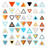 Gekleurde driehoeken Reeks ontwerpelementen Stock Fotografie