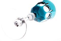 Gekleurde drinkbeker 2 van het besnoeiingsglas Royalty-vrije Stock Foto's
