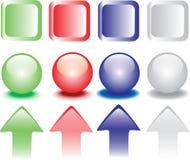 Gekleurde drukknoppen Royalty-vrije Stock Afbeeldingen