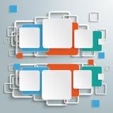 Gekleurde Dubbele Vierkanten Infographic Royalty-vrije Stock Afbeelding