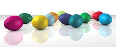 Gekleurde eieren stock illustratie