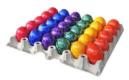 Gekleurde eieren stock foto