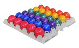 Gekleurde eieren stock fotografie