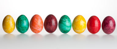 Gekleurde eieren royalty-vrije stock fotografie