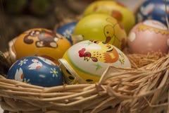 Gekleurde Eieren Royalty-vrije Stock Afbeeldingen
