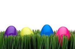 Gekleurde eieren op gras Royalty-vrije Stock Foto
