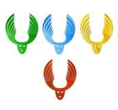 Gekleurde elandenemblemen Royalty-vrije Stock Foto