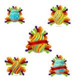 Gekleurde elegantie en wervelingspaaseieren Royalty-vrije Stock Afbeeldingen