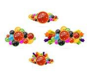 Gekleurde en creatieve geplaatste klokkensymbolen Royalty-vrije Stock Foto