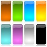 Gekleurde en glanzende verticale staafreeks stock illustratie