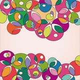 Gekleurde en onregelmatige vormenachtergrond Stock Foto