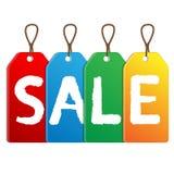 Gekleurde etikettenverkoop Stock Afbeelding
