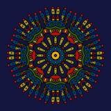 Gekleurde etnische Mexicaanse mandala Vector Illustratie