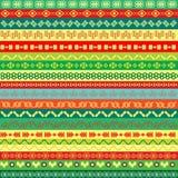Gekleurde etnische patroonachtergrond Royalty-vrije Stock Fotografie