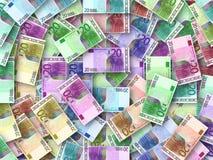 Gekleurde Euro achtergrond Stock Fotografie