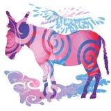 Gekleurde ezel Royalty-vrije Stock Afbeelding