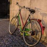 Gekleurde fiets royalty-vrije stock afbeelding