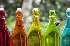 Gekleurde Flessen Stock Fotografie