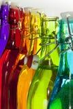 Gekleurde Flessen Royalty-vrije Stock Afbeeldingen