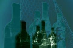 Gekleurde flessen stock illustratie