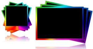 Gekleurde fotoframes Royalty-vrije Stock Foto's