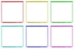 Gekleurde frames Stock Foto