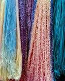 Gekleurde garenvertoning Royalty-vrije Stock Fotografie