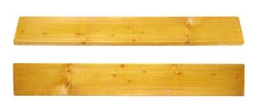 Gekleurde geïsoleerde de raadsplank van het pijnboomhout stock foto