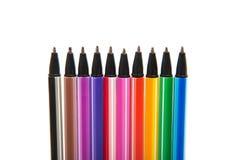 Gekleurde geïsoleerde pennen Royalty-vrije Stock Afbeelding