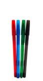 Gekleurde geïsoleerde pennen Royalty-vrije Stock Fotografie