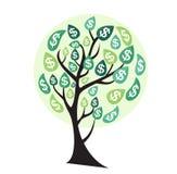 Gekleurde Geldboom, Afhankelijkheid van Financieel de Groei Vlak Concept royalty-vrije illustratie