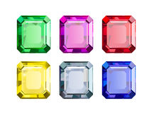 Gekleurde gemmen Royalty-vrije Stock Fotografie