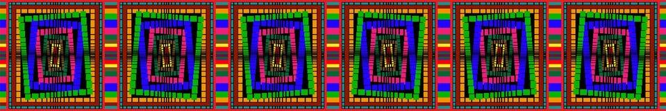Gekleurde geometrische patronen royalty-vrije illustratie