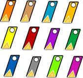 Gekleurde geplaatste etiketten Stock Afbeeldingen