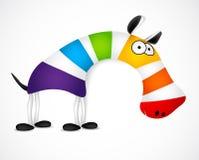Gekleurde gestreepte zebra. Vector Royalty-vrije Stock Foto