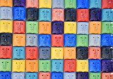 Gekleurde gezichten Royalty-vrije Stock Afbeeldingen