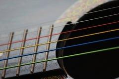 Gekleurde Gitaarkoorden Stock Afbeelding