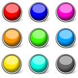 Gekleurde glanzende knopeninzameling, vector illustratie