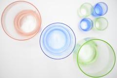 Gekleurde glasschepen Stock Afbeelding