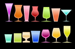 Gekleurde glazen stock illustratie