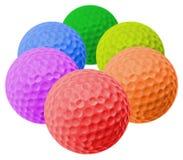 Gekleurde golfballen Stock Foto's