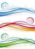 Gekleurde golven en bellen Stock Foto's