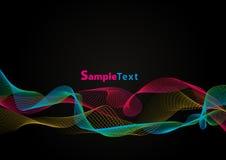 Gekleurde golven - Vectorbeeld Stock Fotografie