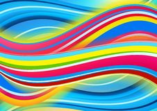 Gekleurde golvenachtergrond Royalty-vrije Stock Foto's