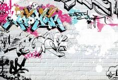 Gekleurde graffiti Royalty-vrije Stock Foto's
