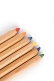 Gekleurde grote potloden met schaduw Stock Fotografie
