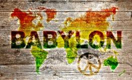 Gekleurde grunge wereldkaart Royalty-vrije Stock Fotografie