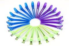 Gekleurde haarklemmen Royalty-vrije Stock Fotografie