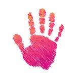 Gekleurde hand met borstel. vector illustratie
