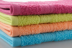 Gekleurde handdoeken royalty-vrije stock afbeelding